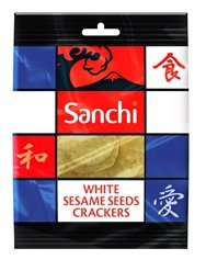 Preisvergleich Produktbild Sanchi 20% OFF White Sesame Crackers 50 g (order 12 for trade outer)