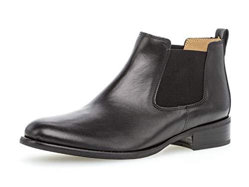 Gabor Damen Chelsea Boots 31.640, Frauen Stiefelette/Röhrli,Stiefel,Halbstiefel,Bootie,Schlupfstiefel,flach,schwarz,43 EU / 9 UK