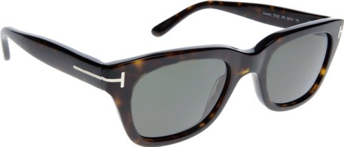 Tom ford ft0237 52n 50 montature uomo, marrone (avana scura\\verde) 50.0