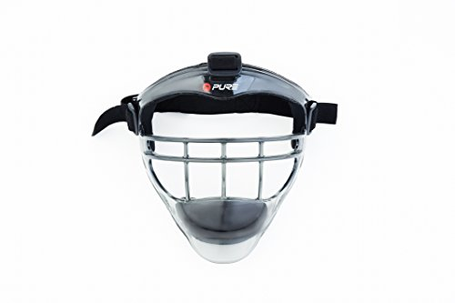 Pure2Improve Erwachsene Baseball Mask Adult, Schwarz