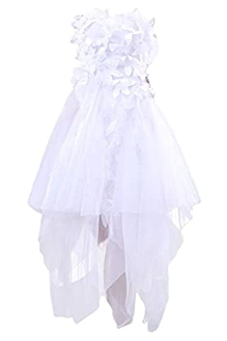 Sunvary Romantic A Line Bridesmaid Dresses Strapless Asymmetrical Train Short Bridal Wedding