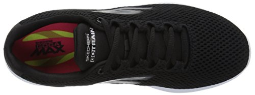 Skechers Go Train-Hype, Scarpe Running Donna Nero (Black/white)