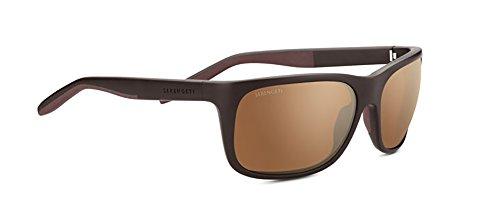cf752e1fd4 Serengeti Eyewear Erwachsene Ettore Sanded Dark Brown, Medium