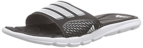 adidas Performance Adipure 360 Slide, Damen Dusch- & Badeschuhe, Schwarz (Core Black/White/Iron Met.), 39