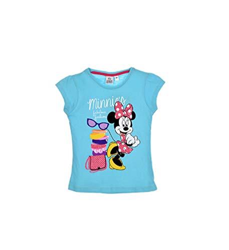 Minnie Mouse Disney Mädchen Kinder T-Shirt Türkis, Größe:128 (8 A)
