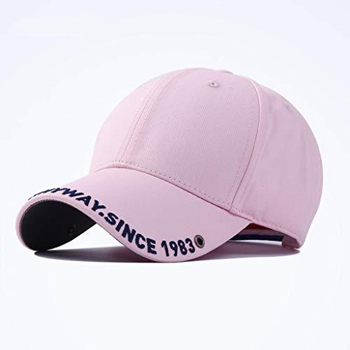 Dyong Sonnenhut Sonnenbrillen-Sonnenblende-Schirmmütze des Weiblichen Weiblichen Frühling Und Sommervisier-Baseballmütze Männliche Im Freien Koreanische Beiläufige Kappe (Color : Pink)