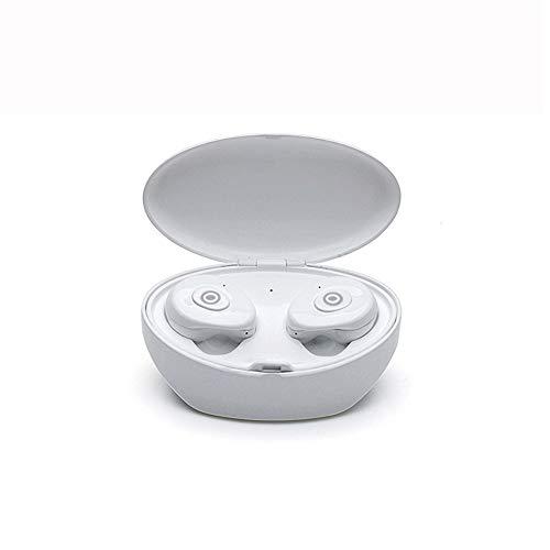 PNCS Wireless Kopfhöre Drahtlose Mini-Ohr-TWS-In-Ear-V5.0-Stereoanlage mit beidseitigem Stereo-Anschluss wasserdicht für Reise-Fitness-Geschenk,White
