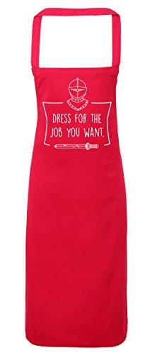 hippowarehouse Kleid für die Aufgabe aus, die Sie wollen, Knight Schürze Küche Kochen Malerei DIY Einheitsgröße Erwachsene, fuchsia pink, (Kostüme Tshirt Royal Knight)