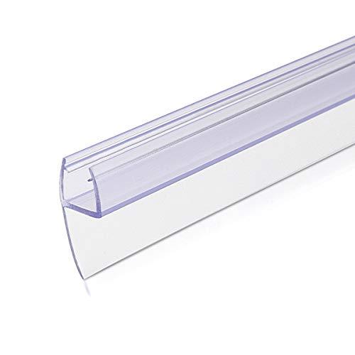 Navaris Schwallschutz Duschdichtung Duschkabine 180° - für 8mm dicke Glas Duschtür - Dichtung Glastür Dusche - Ersatzdichtung Glasdusche 100cm Glas Dichtungen