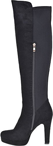 New womens over the knee thigh high boots ladies high heel boots...