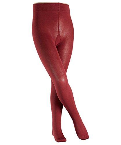 FALKE Mädchen Strumpfhose Cotton Touch, Gr. 98 (Herstellergröße: 98-104), Rot (maroon 8102)