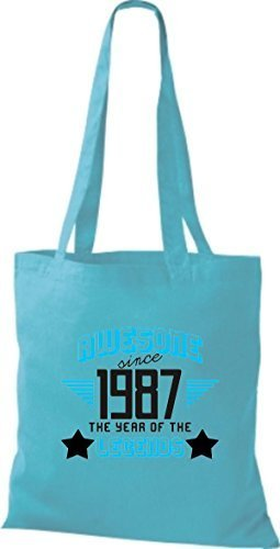 shirtstown Borsa di stoffa Impressionante SINCE 1987 The Year of the LEGGENDE Celeste