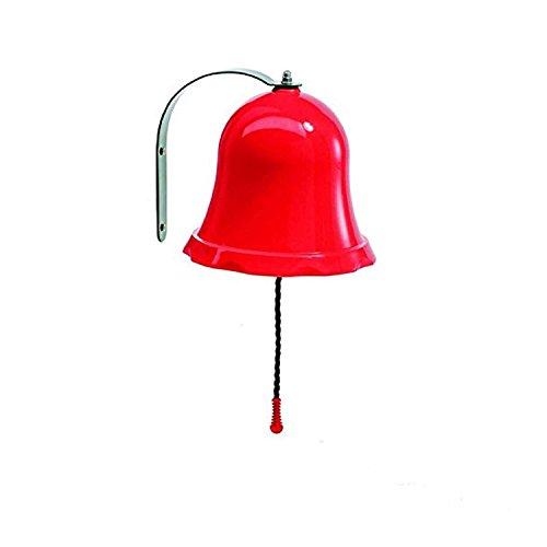 Gartenpirat Glocke rot aus PP und Metall für Kinder