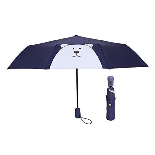 Einfacher Regenschirm Der Automatischen Göttin Mit Doppeltem Verwendungszweck Leicht & Kompakt Windfest Stabiler Taschenschirm Voll Automatischer Klein Leicht Double Layer Winddicht@Eisbär Marine -