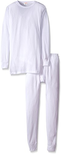 Knit Long Johns (Rocky® Men's Thermal Long John Underwear 2Pc Set Waffle Knit Top and Bottom (Small, White))