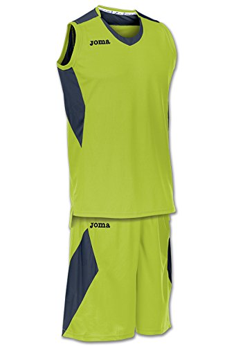 Joma Set Space Basketball Trikot-Set Kinder grün-blau Lime Punch/Dark Navy, 2XS (152)
