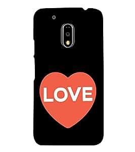 Love Heart 3D Hard Polycarbonate Designer Back Case Cover for Motorola MotoE3 Power :: Motorola Moto E3 Power