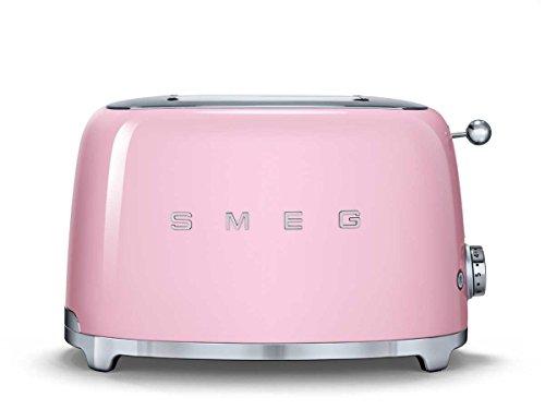 Smeg tSF01PKEU grille-pain 2 tranches pour la cuisine motif cadillac rose kleingerät nostalgie
