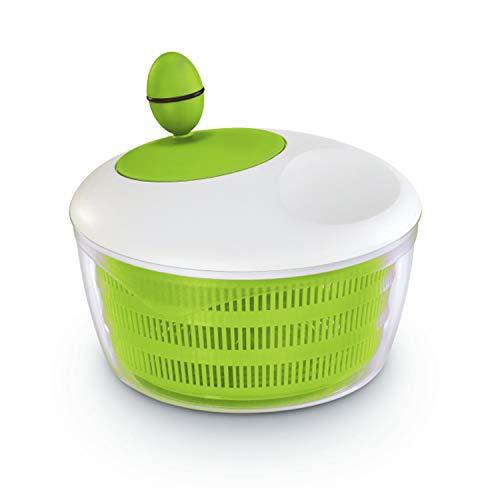 Leifheit Salatschleuder Colour Edition classic green für Rechts und Linkshänder, moderne Salatschüssel zum Servieren, Küchenhelfer in trendiger Farbe