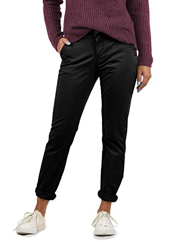 BlendShe Chilli Damen Chino Hose Stoffhose Regular-Fit, Größe:XXL, Farbe:Black Washed (20047)