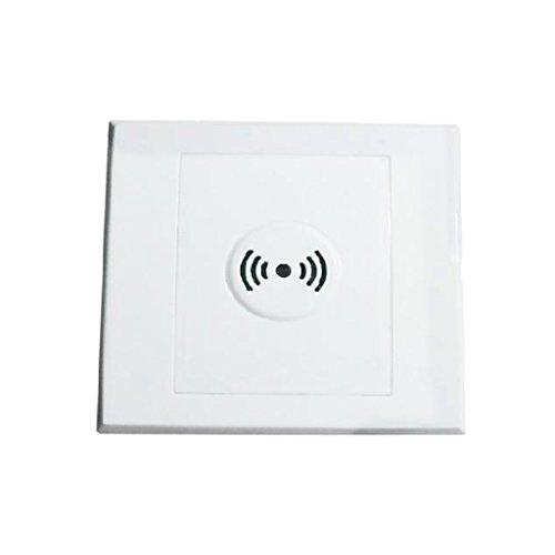 perfk Wandmontage Voice Licht Sensor Schalter mit Sound steuern - Weiß, 3 Zeilen