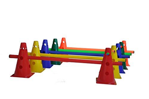 LA-24 5er Set Steckhürden 23 cm, Kegelhürden für Agility in 5 Farben