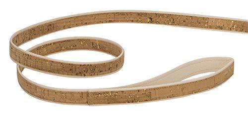 4 Nooks - Vegane Design Hundeleine aus Baumwolle und Kork mit Gold, Größe S - 3