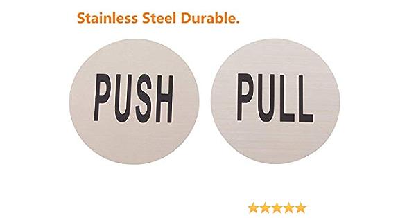 L-stainless Steel-1/Paire /Acier Inoxydable Do4u 7,6/cm rond en acier inoxydable Premium Push Pull Panneau de porte pousser//tirer Ensemble/