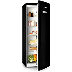 Klarstein Irene XL - Réfrigérateur, Grand volume, 242L, Design rétro, 4 clayettes, Classe A+, Noir