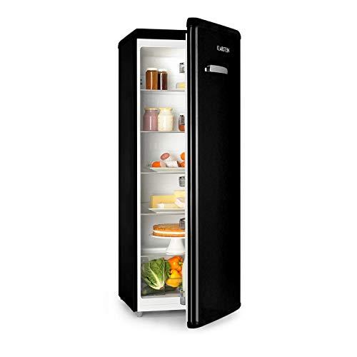 Klarstein Irene XL • Réfrigérateur • Grand volume • 242L • Design rétro • 4 clayettes • Classe A+ • Noir