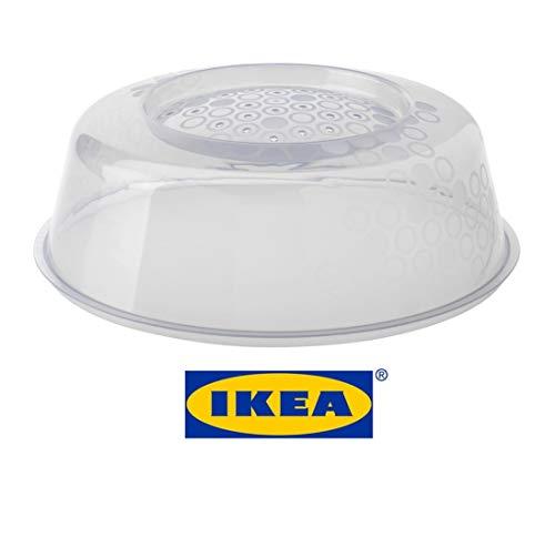 IKEA PRICKIG Transparente Mikrowellen-Abdeckhaube mit Belüftungsschlitzen für perfektes Aufwärmen, Standard-Qualität sortiert