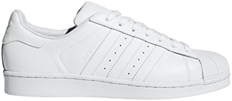 adidas originaux des occasionnel hommes est la superstar foundation occasionnel des / course baskets blanches et blanche, 19 m 809a89