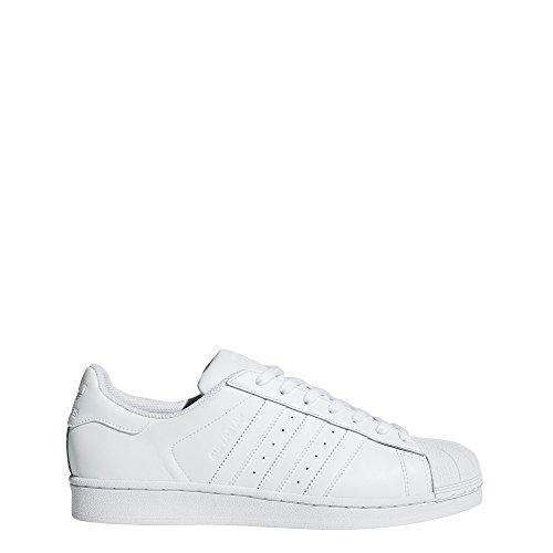 adidas Originals Men's Superstar Foundation Casual Sneaker, White/Running White/White, 20 M US