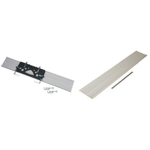 Wolfcraft 6910000 - FKS 115 - Guía soporte de corte para sierra circular 1150 x 220 x 3 mm + 6911000 - Prolongación de guía de sierra circular para FSK 115. para artículo 6910000
