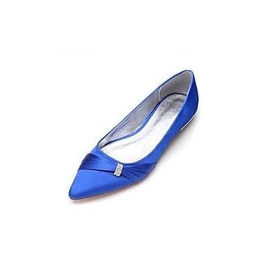 Wuyulunbi@ Scarpe da donna di seta caduta di primavera Ballerina scarpe matrimonio Punta strass per la festa di nozze & Sera Champagne luce blu rosso Beige Blu chiaro