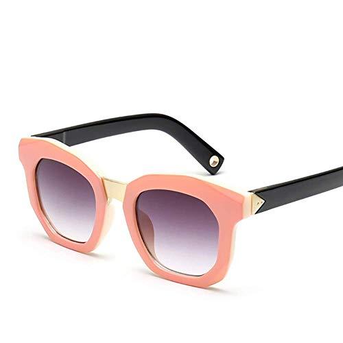 Lisa旗舰店 Männer und Frauen Kinder Mode Trend Square Big Box Eltern-Kind-Brille an Kinder im Alter von 8-14 anzupassen,Pink (Schmuck-box Für Kinder Im Alter Von 8)