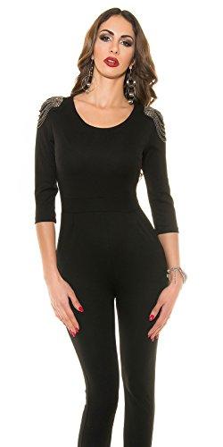 In-Stylefashion - Combinaison - Femme noir Schwarz L Schwarz