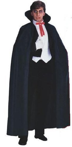 Black Cape and Bat mask : Halloween adult costume (Batwoman Kostüm Für Erwachsene)