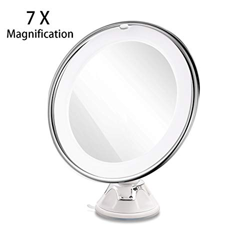 Makeup Mirror With Light & 7 X Magnification