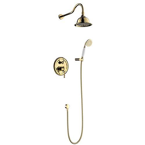 Galvanik Retro Wasserhahn Öl eingerieben Bronze Badewanne Dusche Wasserhahn Set 8