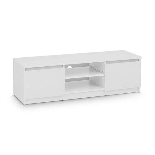 TV-Lowboard Board Schrank Fernsehtisch TV-Möbel (Weiß) - 2