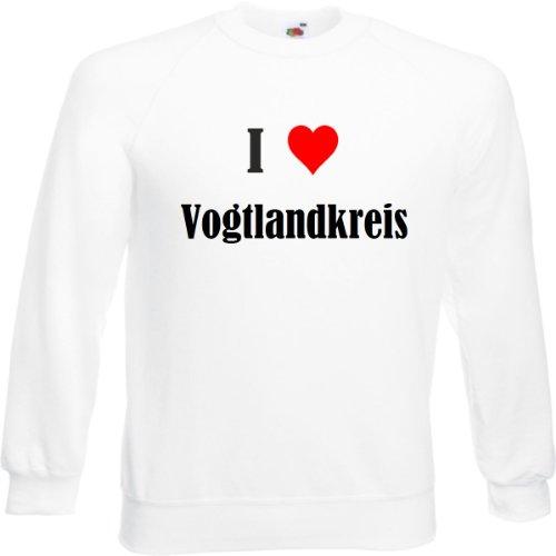 Reifen-Markt Sweatshirt I Love Vogtlandkreis Größe 2XL Farbe Weiss Druck Schwarz