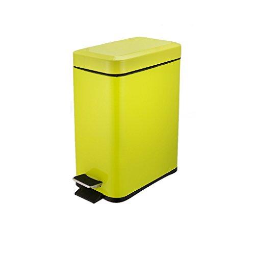 Style européen Rectangle Vert Mute avec Couvercle Acier Inoxydable Poubelle Salle de Bain Creative Foot Trash Créatif
