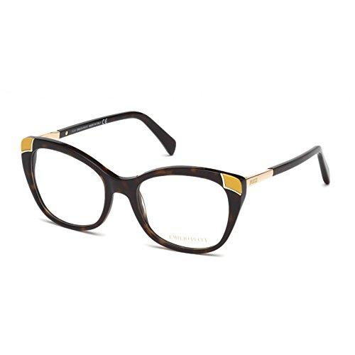 Emilio pucci ep5059, occhiali da sole unisex-adulto, marrone (avana scura), 53.0