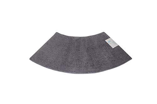 Cazsplash Quadrant Kleine Gebogene Duschmatte, Microfaser, grau, M (Gebogene Matte Boden Dusche)
