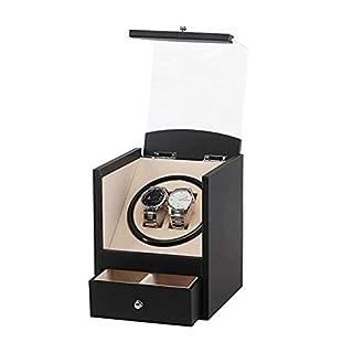 JBP Max Watch Winder Shake Tischgerät Elektro-Uhrenbox Black PU Auto Wickel Uhrenbox Electric Box Motor Box Elektro-Uhrenbox Shaker-X