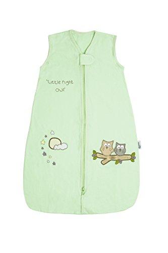 Schlummersack Baby Ganzjahres Schlafsack 2.5 Tog - Eule mintgrün Jersey - 6-18 Monate/90 cm