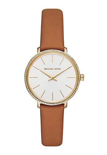 MICHAEL KORS Damen Analog Quarz Uhr mit Leder Armband MK2801