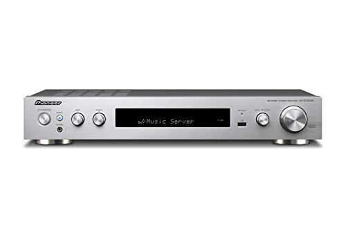 Pioneer Stereo Receiver, SX-S30DAB-S, Bluetooth, WLAN, Streaming, Musik Apps (Spotify, Deezer u.a.), DAB+, Dolby TrueHD, High-Res Audio, 85 Watt/Kanal, Front USB/Audio in, HDMI, Silber (Netzwerk-player Pioneer)