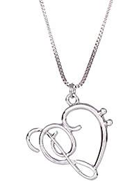 Bobury Manera Plateó la Forma del Corazón de la Cadena de Joyería Novia Hueco Pendiente de Las Mujeres de la Vendimia Collar de la Aleación de la Muchacha